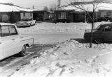 861 Scranton Street in Hoffman Heights - Cars Warming Up on a Snowy, Looking west, Winter Day 1961