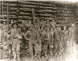 Supt. Harry Van Horn and his men at the Commodore Mine, Creede, Colorado