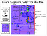 Ground Penetrating Radar Time Slice