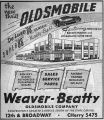 Weaver-Beatty Oldsmobile Auto Dealer Advertisement