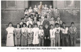 Mr. Jacks 1954 6th grade class at Wyatt Elementry