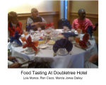 Food tasting at Doubletree 2