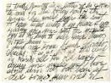 Section of letter to an unknown recipient from Margaret Brown