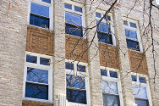 Exterior view of the windows in the Robert Browning Building