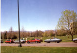 Cheesman Park with Street and Cars in Foreground