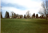 Cheesman Park Grounds with Houses in Background