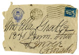 Stationary envelope from the l'Elysee-Bellevue Hotel, postmarked from Paris, France