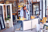 Jim Watts of Commerical Art Glass at Work Table