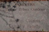 Partners Plaque at Cedar Park, Denver Urban Gardens