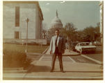 Sam Sandos in front of United States Capitol