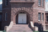 Chamberlin Observatory, close up view of front entrance