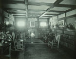 Buchtel House, living room and library