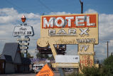 Motel Bar X and Shuffle Inn, West Colfax Avenue, signs