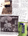 Scrapbook page with various photographs, notes