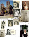 Collage of Nettie Moore's school and personal photographs