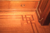 Wood floor inlays in the David W. Brown House