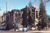 Side view of the old Douglas County Courthouse after fire