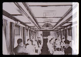 Denver & Rio Grande Western Railroad Diner-Kitchen-Sleeper RGX-3274 dining guests