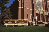 St Ignatius Loyola Church and signs
