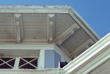Under eaves of the David W. Brown House