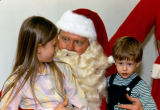 Children with Santa Claus at Mission Viejo