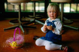 Young Child with Easter Basket at Mission Viejo