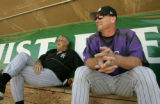 UTDP201 - ** SPECIAL TO THE ROCKY MOUNTAIN NEWS ** Casper Rockies pitching coach Mark Thompson,...