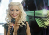 "NYET330 - ** FILE **Christina Aguilera appears on MTV's ""Total Request Live,"" in this..."