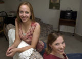 (BOULDER, Colo., May 5, 2004) Briana, 19, and Jennifer,22, Willeke In off campus residence of...