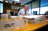 (DENVER, CO., JULY 6, 2004)  Denver Water manager Chips Barry for an In My Office profile. Barry...