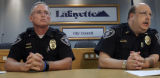(L-R) Lafayette Police Commander of Operations, Mark Battersby and Lafayette Police Chief Paul...