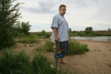 MJM449  Jeremiah Adams,15, who was saved from drowning by Dustin Vollert, 28, also of Englewood,...