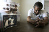 Rudy Gonzales (cq) , great-grandfather of Deion Santistevan , sits in his NW Denver home on...