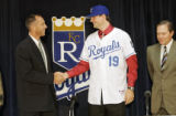 John Sleezer/The Kansas City Star 8/5/2006  (Royals) Royals number one draft pick Luke Hochevar,...