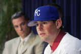 John Sleezer/The Kansas City Star 8/5/2006  (Royals) Royals number one draft pick Luke Hochevar...
