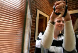 Christy Berggren, 28, is locked up in the Muscular Dystrophy Association's maximum appreciation...