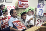 Members of the American Civil Liberties Union of Colorado delivered more than 1800 signatures on a...