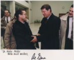 Democratic candidate for U.S. Senate Mike Miles meets Al Gore. (photo provided to Rocky Mountain...