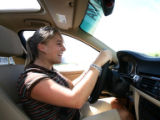 Golden High school senior Hannah Goedert  (cq) goes through a driving class in the parking lot in...