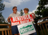 Denver, COlo., photo taken June 28, 2004- Scott Benefield (left) and his wife ??? who are both...