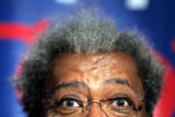 NYMA103 - Boxing promoter Don King addresses members of the media during a news conference...