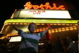 Denver comedian Josh Blue poses outside the Gothic Theatre in Englewood, Colo. after his first...