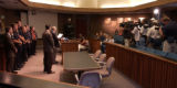 slug::.. Ghilotti Press Conference-1, -5.6.04- Vacaville mayor Len  Augustine and deputy police...