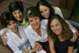 Essie Perlmutter, center, at her home in Denver on August 31, 2006,  surrounded by her daughters,...