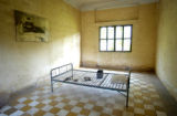 Phnom Penh, Cambodia.  November 1, 2003.  The genocide museum, Tuol Sleng, the former Khmer Rouge...
