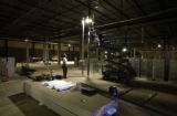 (AURORA, Colo,. 7/14/2004 )  Construction progresses at the food court at the Aurora Mall...