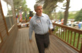 (La Plata County, CO, Shot on 062604)  3rd Congressional district candidate Greg Walcher finishes...