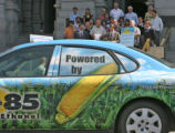 This car powered by 85% ethanol was on display at a press Thursday afternoon September 14, 2006 at...