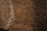 (PRICE, Utah, SHOT 6/30/2004) Pectographs (spelling?) carved into a wall at one of the sites on...