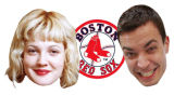 Drew Barrymore and JImmy Fallon and Boston Red Sox